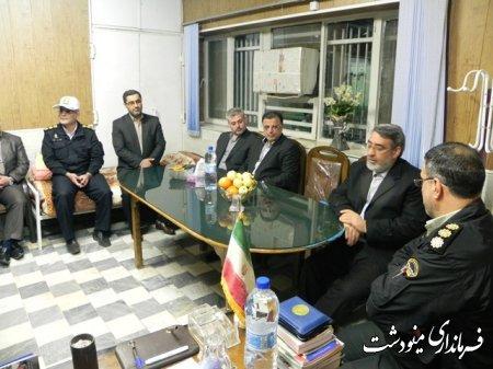 بازديد آقاي دكتر رحماني فضلي وزير كشور از پاسگاه پليس راه مينودشت