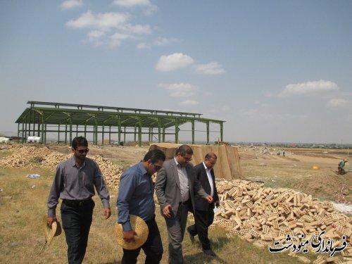 بازدید از پروژه های در حال ساخت شهرکت صنعتی