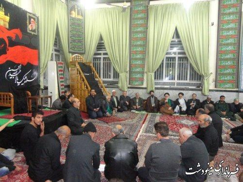 حضور فرماندار و امام جمعه درمساجد شهر وروستا های مینودشت به مناسبت هفته امربه معروف ونهی از منکر