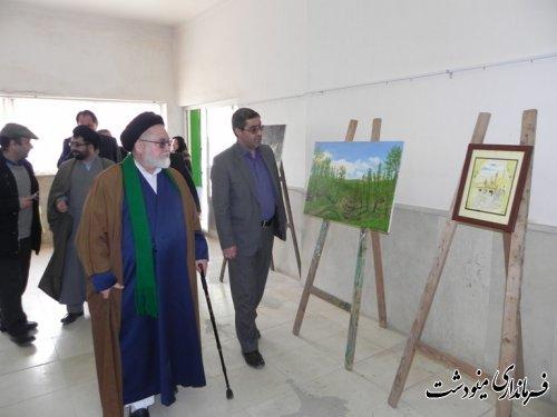 افتتاح نمایشگاه هنرهای تجسمی در اولین روز از دهه مبارک فجر مینودشت