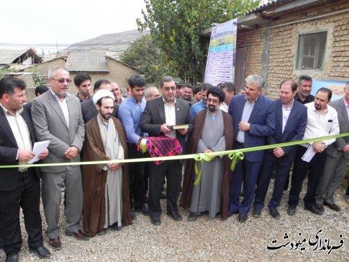 افتتاح پروژه های جهاد کشاورزی مینودشت با حضور فرماندار