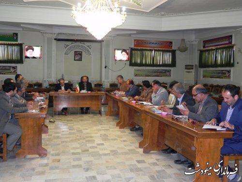 تاکید بر بیمه محصولات کشاورزی در جلسه شورای کشاورزی مینودشت