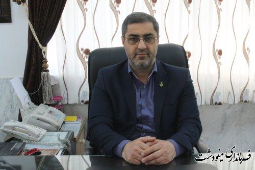 اسرافیل وزیری از تعداد 72 صندوق اخذ رای در شهرستان مینودشت خبر داد