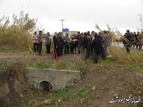 افتتاح پروژه های جهاد کشاورزی شهرستان مینودشت با حضور فرماندار
