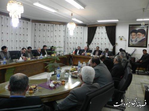 دیدار استاندار گلستان با اعضای ستاد و کمیته های انتخابات شهرستان مینودشت