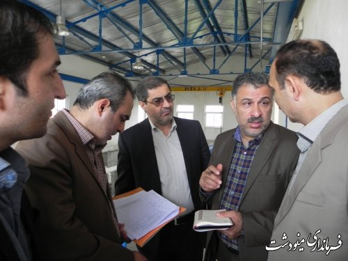 بازدید فرماندار و مدیر کل دفتر فنی استانداری از پروژه های عمرانی شهرستان مینودشت