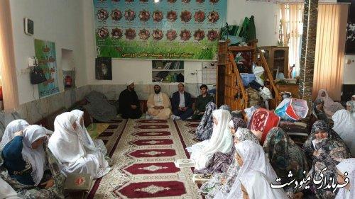 بازدید بخشدار ،امام جمعه.فرماندهی حوزه بسیج ثارا.. از معتکفین در بخش کوهسارات شهرستان مینودشت