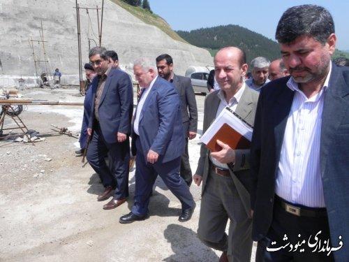 بازدید استاندار گلستان از سد نرماب مینودشت