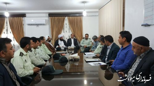 تودیع ومعارفه فرمانده انتظامی بخش کوهسارات  شهرستان مینودشت