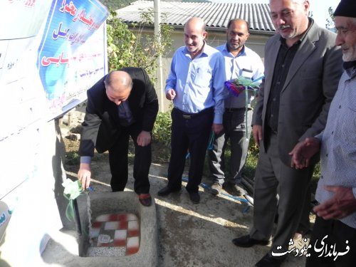 افتتاح پروژه های آبفار شهرستان مینودشت