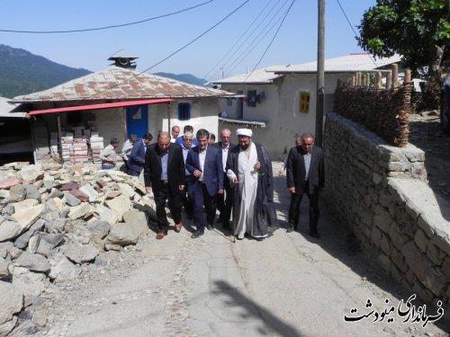 کلنگ گاز رسانی به 6 روستای بخش مرکزی مینودشت به زمین زده شد
