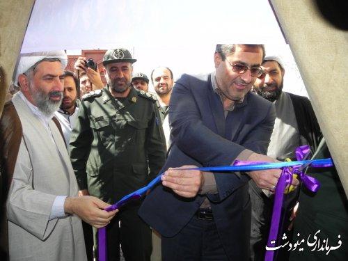 افتتاح نمایشگاه جلوه های ایثار در اقتصاد مقاومتی شهرستان مینودشت