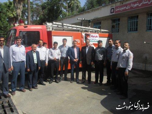 بازدید فرماندار بمناسبت روز آتش نشانی و ایمنی در مینودشت