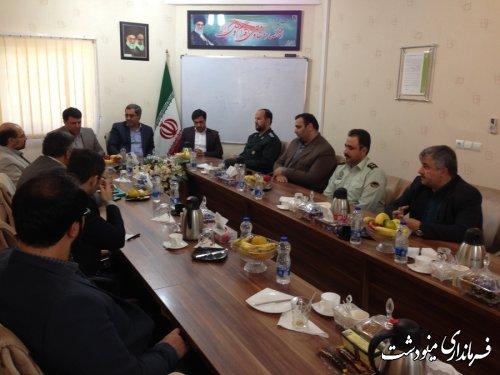 بازدید فرماندار و مدیر کل پدافند غیر عامل  استان از سد نرماب مینودشت