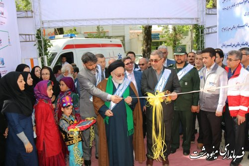 افتتاح-نمایشگاه-به-مناسبت-هفته-سلامت-درشهرستان-مینودشت