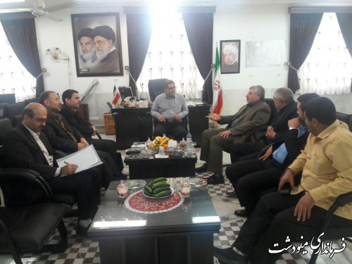 دیدار فرماندار مینودشت با رئیس کمیته حقوقی ستاد انتخابات استان