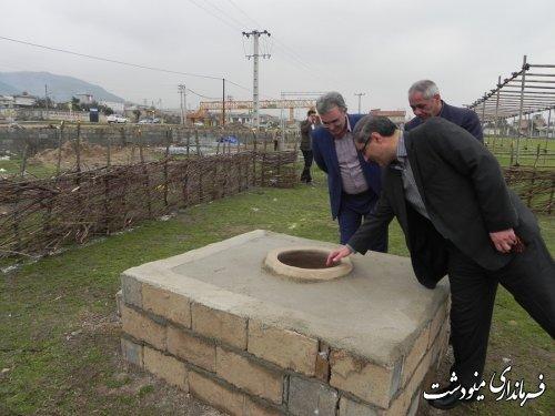 بازدید فرماندار مینودشت از دهکده توریستی