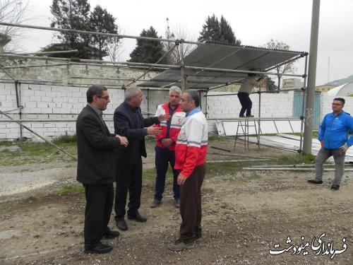 بازدید فرماندار مینودشت از تلاش ادارات برای ورود مسافران نوروزی