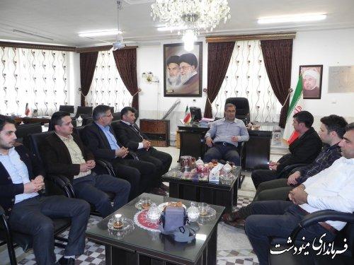 دیدار پرسنل بنیاد مسکن با فرماندار شهرستان مینودشت