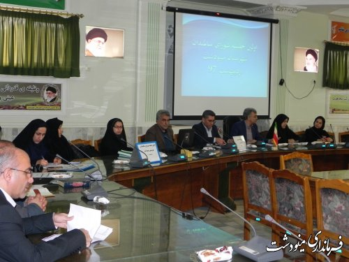 برگزاری اولین جلسه شورای سالمندان مینودشت در سال 97