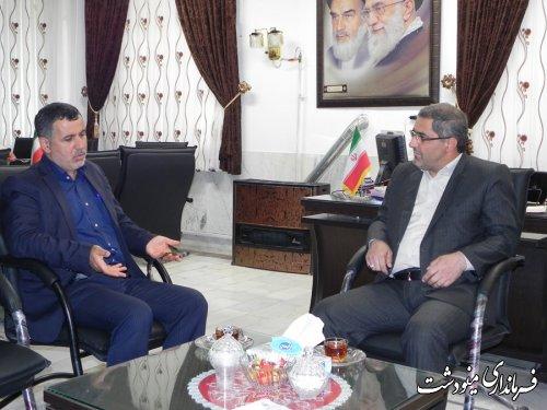 دیدار اسرافیل وزیری فرماندار مینودشت با سید خالق سجادی مدیر کل بحران استان
