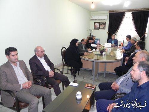 جلسه شورای مشارکتهای بهزیستی شهرستان مینودشت