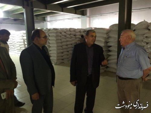 بازدید فرماندار شهرستان مینودشت از کارخانه بسته بندی برنج در شهرک صنعتی