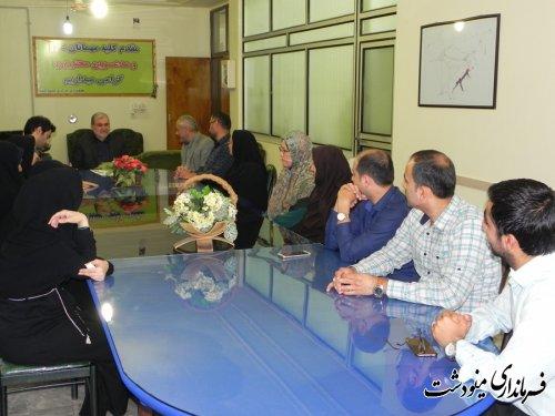 دیدار فرماندار شهرستان مینودشت با پرسنل بخشداری مرکزی