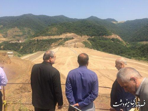 بازدید فرماندار شهرستان مینودشت از سد نرماب