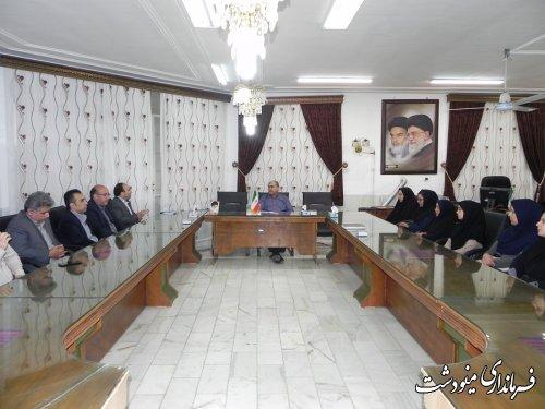 نشست پرسنل دانشگاه میلاد با فرماندار شهرستان مینودشت