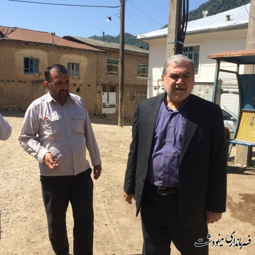 بازدید فرماندار شهرستان مینودشت از روستای تاشته