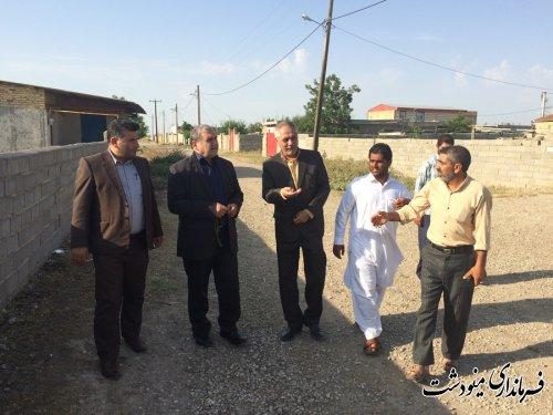 بازدید فرماندار مینودشت از روستای شرکت صحرا