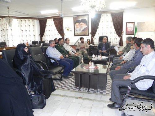 دیدار فرماندار با اعضاء هیات رزمندگان اسلام شهرستان مینودشت