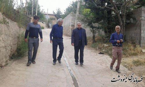 فرماندار مینودشت اجرای طرح هادی در روستاهای قلعه قافه بالا و پایین را نیاز مردم دانست