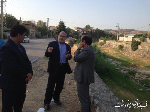 بازدید فرماندار مینودشت از پروژه های شهرداری