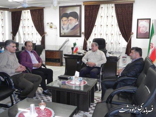 دیدار فرماندار مینودشت با معاون فنی صدا و سیمای استان گلستان
