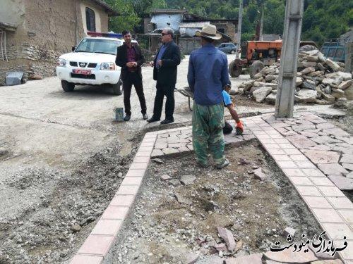 بازدید از روند زیبا سازی روستای یکه سور در بخش مرکزی شهرستان مینودشت