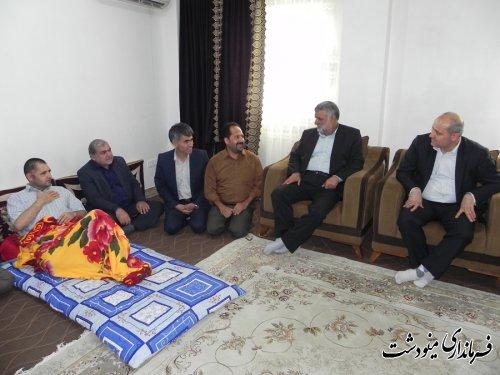 دیدار وزیر جهاد کشاورزی و استاندار گلستان از رضا بهرامی در مینودشت