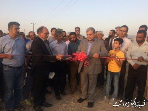 احداث جاده بین مزارع در روستای دشت حلقه