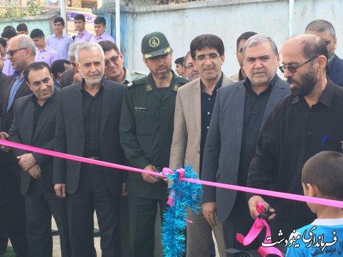 افتتاح زمین چمن مصنوعی  فوتبال در اولین روز بازگشایی مدارس