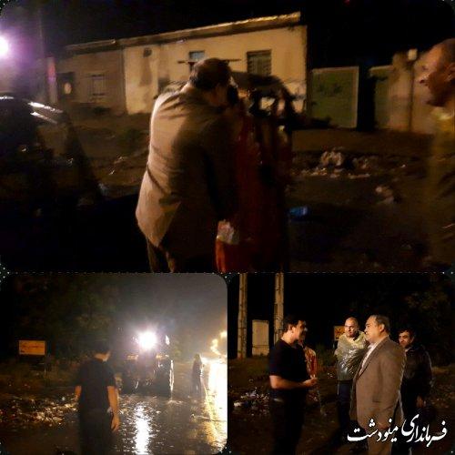 بازدید فرماندار از تلاش نیروهای شهرداری در باز گشایی معابر