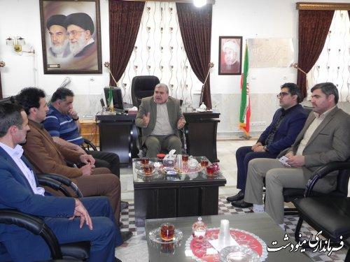 نشست فرماندار مینودشت با مدیر کل آبفای شهری استان