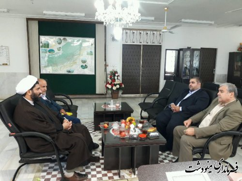 دیدار فرماندار مینودشت با مدیر کل اوقاف و امور خیریه استان