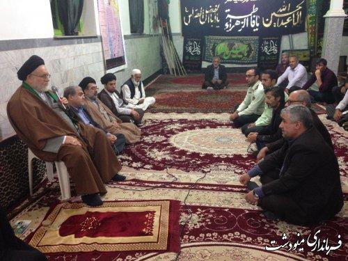 فرماندار مینودشت با جمعی از مردم روستای قره چشمه دیدار کرد