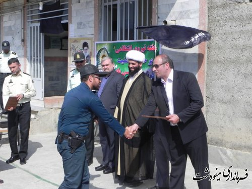 گرامیداشت هفته نیروی انتظامی در بخش کوهسارات شهرستان مینودشت