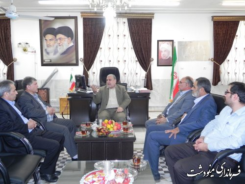 دیدار فرماندار مینودشت با رییس سازمان تعاون روستایی استان