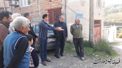 بازدید فرماندار مینودشت از روستای ده حسین کرد