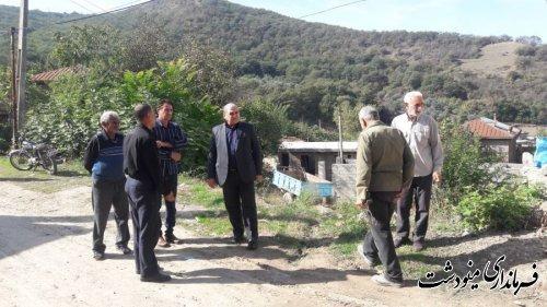بازدید فرماندار مینودشت از تکمیل آبرسانی به روستای ده حسین کرد