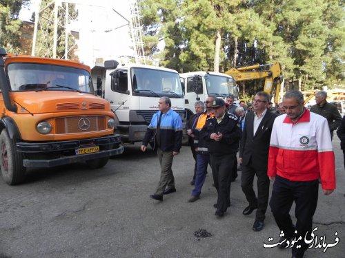 برگزاری مانور خودرویی پدافند غیر عامل در شهرستان مینودشت
