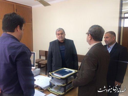بازدید فرماندارمینودشت  از اداره گاز شهرستان